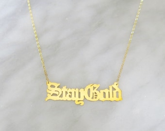 Stay Gold 14k Gold Vermeil Necklace