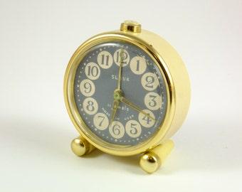 WORKING !!!  Vintage Russian Mechanical Alarm Clock Slava from Soviet Union Period  CCCP