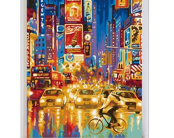 DIY New York Street Painting Kit Painting By Numbers Kit DIY Oil Painting On Canvas Gifts Wall Painting Wall Art Handmade Gift Wall Deco