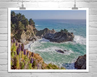 California Coast Art, Big Sur Art, California Beach Photography, McWay Falls Photo, Big Sur Photo, Pacific Coast Highway, California Gift