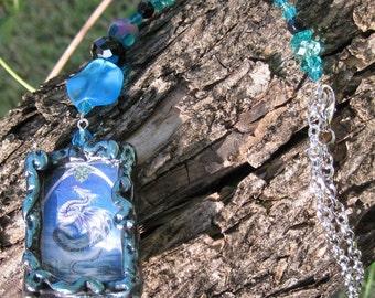 Scerpent Scales - Dragon Crystal Glass Pendant Suncatcher Sun Catcher Car Rearview Mirror Ornament
