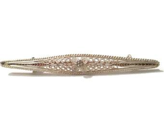 """Lapel Pin; """"Curling"""" Pin, Curling Lapel Pin, Victorian Pin, Victorian Lapel Pin, Sterling Silver Pin, Sterling Silver Lapel Pin"""
