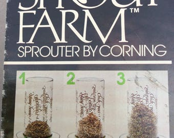 Sprout Farm By Corning 5200, sprouts all kinds of seeds Vintage NOS