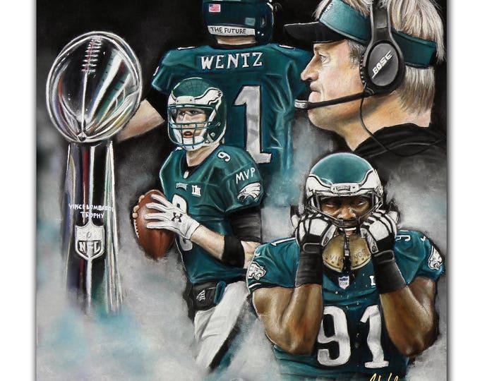 Philadelphia Eagles - Super Bowl Champions 2018 - Super Bowl 52 - Eagles - Nick Foles - Carson Wentz - Fletcher Cox - Man Cave - Champions