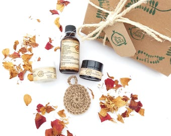 Mothers day gift Organic spa gift set Boxed spa gift set Mum gift for her Organic beauty box Spa gift box Organic skincare The Eco Path