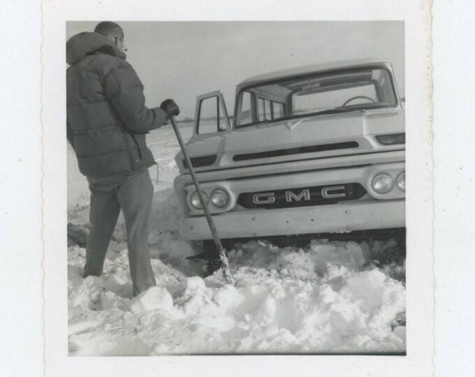 Vintage Snapshot Photo: Digging Out [82652]