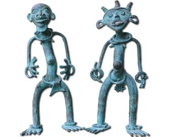 Dance Tika , bronze sculptures, Cameroon