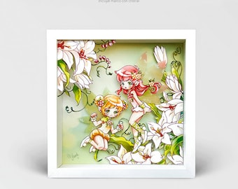 Diorama Secret Garden, 3D Print, Frame Fairy, Fairy theatre