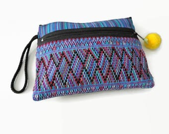 Fabric Pouch, Woven Bag, Travel Wallet, Smartphone Wallet, Zippered Pouch, Gifts For Her, Accessory Pouch