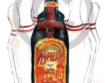 Big Lebowski Kahlua card by Sarah Majury