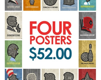 Buy Any 4 posters