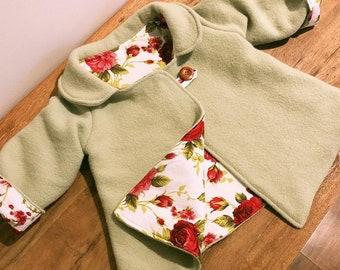 Children's Vintage Handmade Wool Swing Coat