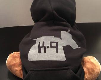 K-9 dog hoodie