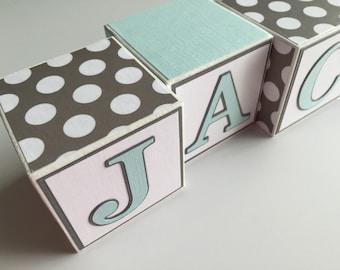 Custom Baby Name Blocks Baby Gift Baby Shower Newborn Nursery Baby Boy Girl Decorate Personalized Letters Newborn Photography Wood Blocks