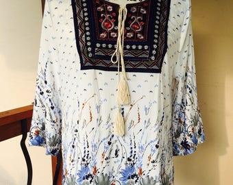 Bohemian stye blouse.