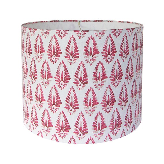 Patterned lamp shade print lamp shades red lamp shade pair aloadofball Choice Image