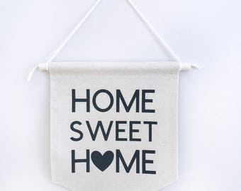 home sweet home, canvas banner, wall hanging