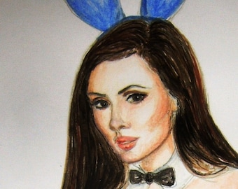 Commissions taken for a painting of you as a Playboy Bunny.