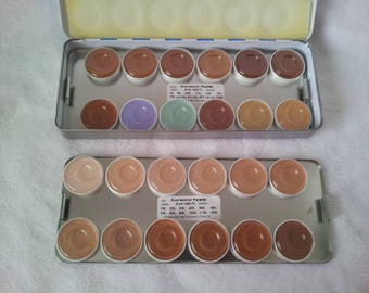 Kryolan Supracolor Camoflauge Cream Makeup Palette Tin  24 colors
