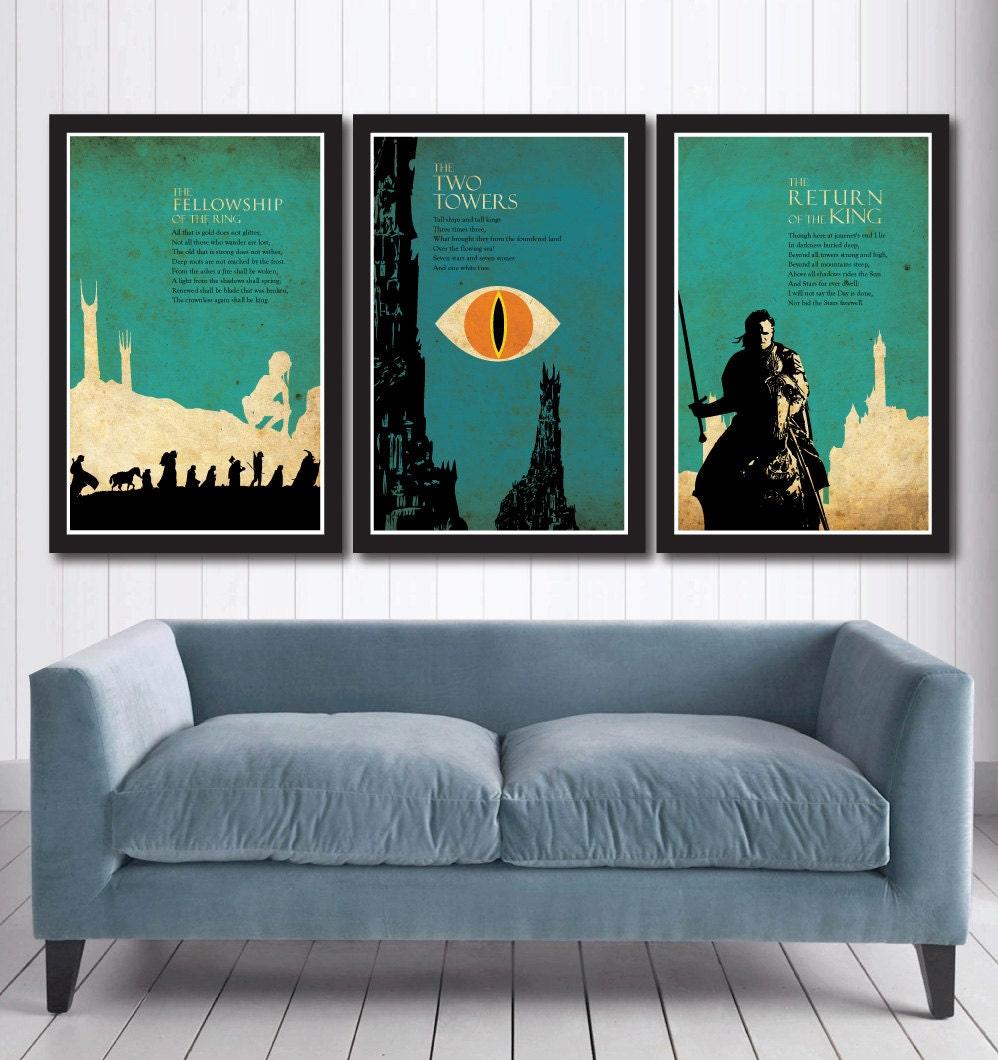 El Señor de lo anillos trilogía cartel conjunto