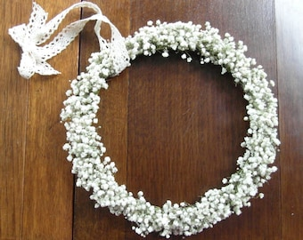 FREE SHIPPING in UK ~ baby's breath wreath