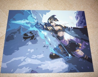 League of Legends Ashe Painting