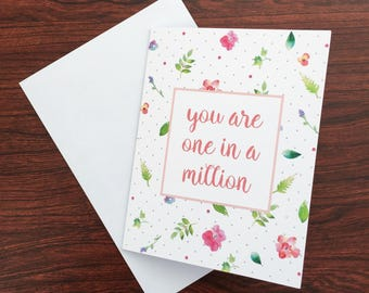 You are one in a million card