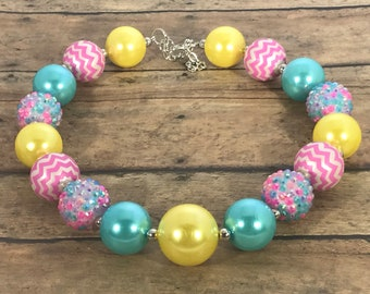 Spring Necklace - Easter Necklace - Spring - Chunky Necklace - Little Girl Necklace - Toddler Necklace - Photo Prop - Jewelry