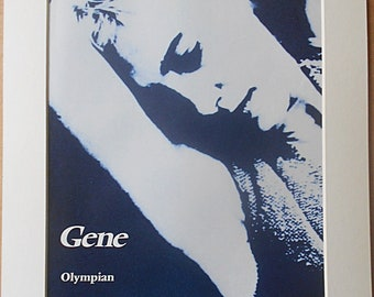 GENE Martin Rossiter Steve Mason London Indie Rock/Britpop Band Olympian 1995 Original Vintage Music Press Poster Type Advert In A Mount