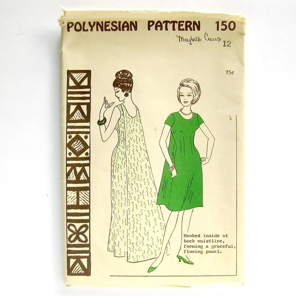 Costura Vintage patrón - patrón de Polinesia 150 - Wailele Maxi ...