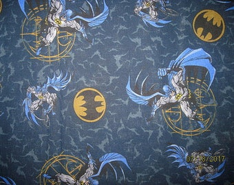 Batman fabric, Cotton Fabric, Batman, Hard To Find, Discontinued, Rare, Fat Quarter, FQ,