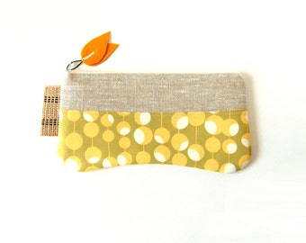 Zipper Pouch, Purse Organizer, Accessory Pouch, Cosmetic Case, Makeup Bag, Amy Butler Midwest Modern