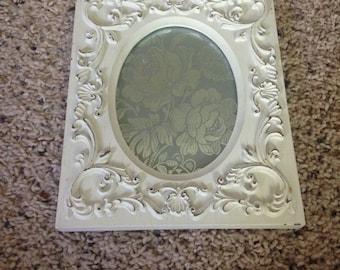 4x6 heavy shabby chic frame white