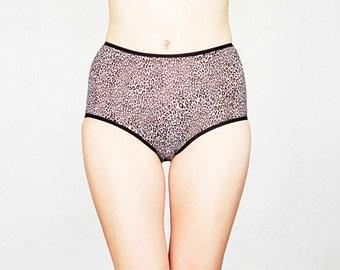 Leopard pattern High style Panties by Egretta Garzetta Underwear