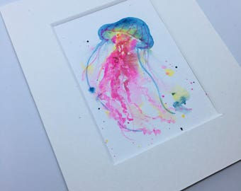 Jellyfish II - original ACEO art trading card