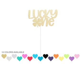 Lucky One Clover Cake Topper - St Patrick's Day - First Birthday Topper - March Birthday - Lucky - Shamrock Topper