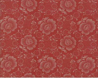 Moda Jos Shirtings by Jo Morton Brick Red Floral Civil War Reproduction Fabric 38040-18 BTY