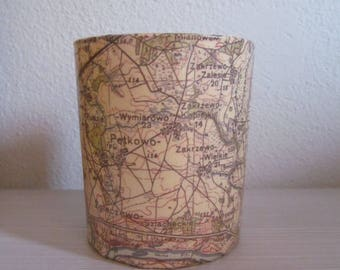 Multiuse Map Glass Container