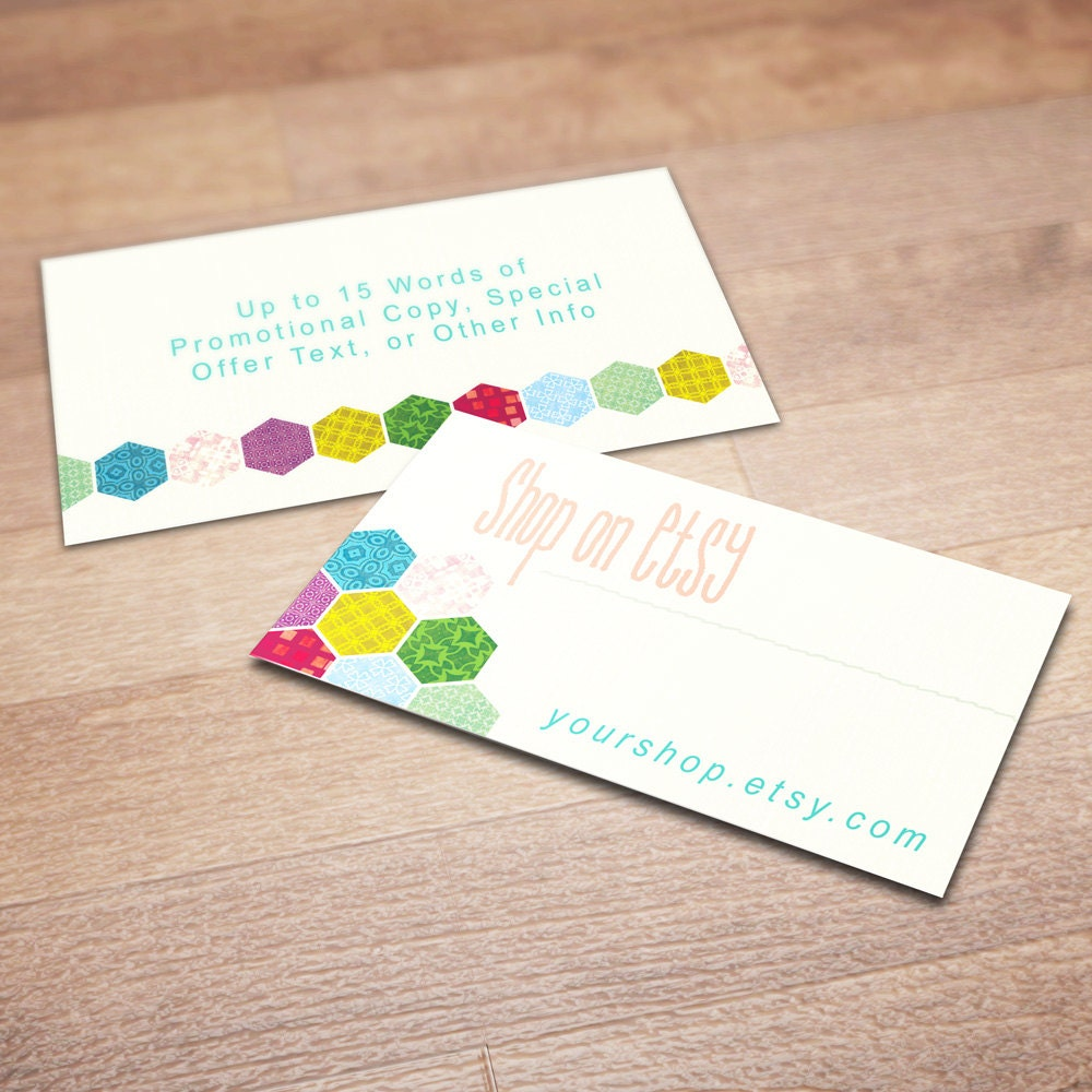 100 Custom Business Cards for Promoting Your Etsy Shop Patch