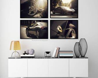 Ferrari race car photography/large wall art/prints/Ferrari wall decor/men office decor/kids room decor/newborn boys room decor/Nursery decor