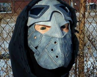 Gray Winter Soldier Rebel Biker Mask Beard Goggles Breather Wasteland Weekend Dystopia Rising Borderlands Post Apocalyptic Survivor