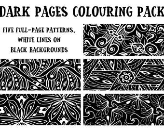 Dark Pages Colouring Pack