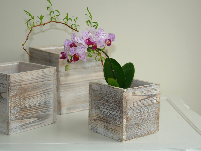 Wood boxes country french planter flowers vases pot square description wood box floridaeventfo Images