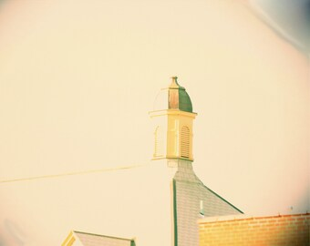Photo Print - Cupola, Yellow and Green Architecture circa 1889, Old World Building
