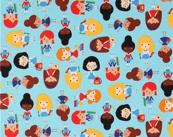 Back to School  Girlfriend Cotton Quilt Fabric Robert Kaufman  By the Yard