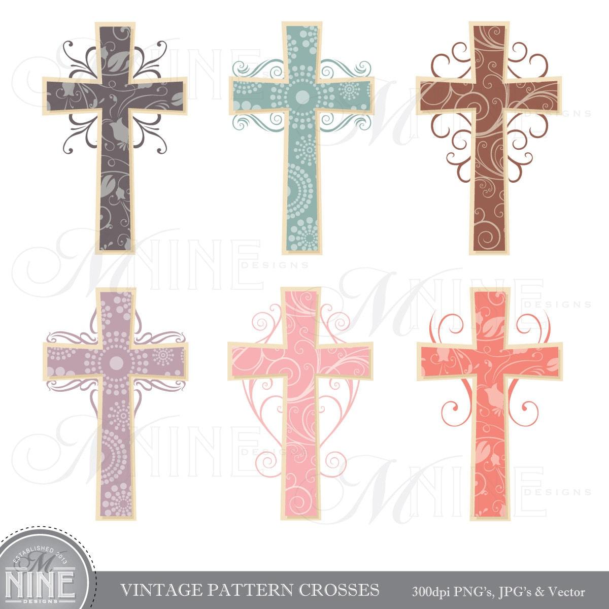 cross clip art vintage pattern crosses clipart rh etsy com cross clip art images cross clip art free
