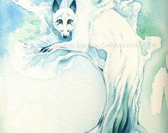 "Giclee Print of ""WinterWolf Tree"""
