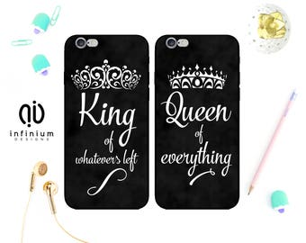 King And Queen Case For iPhone 8, Samsung S8, S8 Plus, Samsung A3, Samsung A5, Samsung S7, S7 Edge, iPhone 7, iPhone 8 Plus, iPhone 6S & 5S