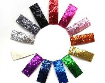 3 Chunky Glitter Snap Clips