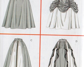 McCall's Costumes Pattern 4090 RENAISSANCE SKIRTS Misses Sizes 10 12 14 16